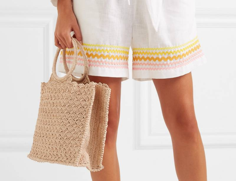 Carrie Forbes Marisa raffia tote
