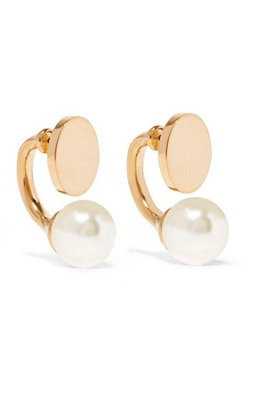 Darcy gold-tone Swarovski pearl earrings