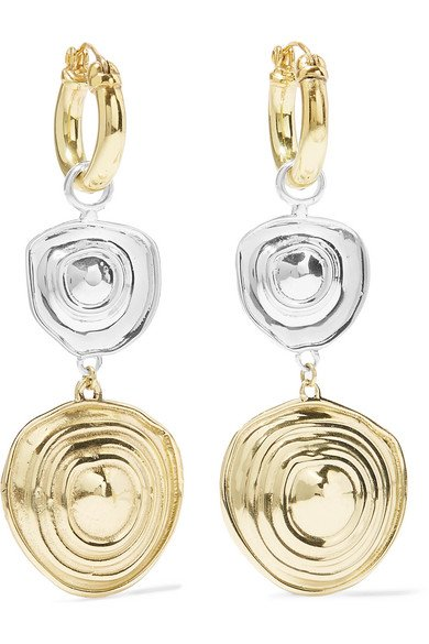 Aegean gold and silver-plated earrings