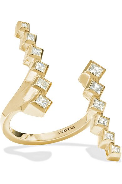 Margo 18-karat gold diamond ring