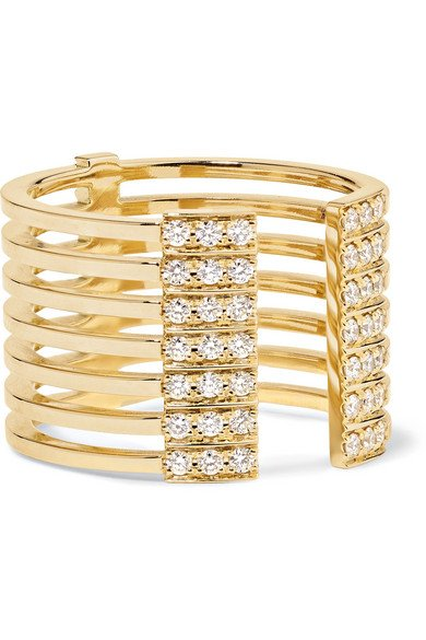 Izzy 18-karat gold diamond ring