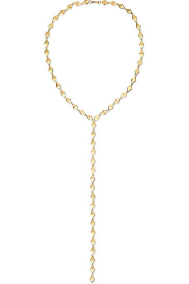 Chloe 18-karat gold necklace