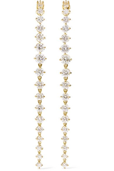 Aria Violet 18-karat gold diamond earrings