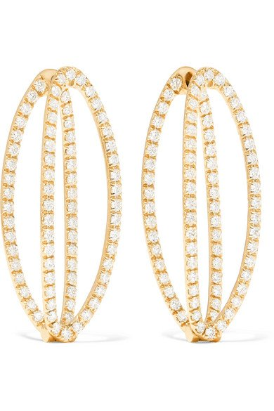 Mila 18-karat gold diamond earring