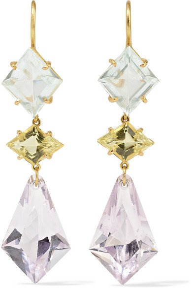 22-karat gold multi-stone earrings