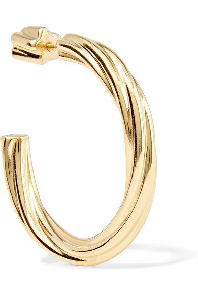 Arsiia gold-plated hoop earring