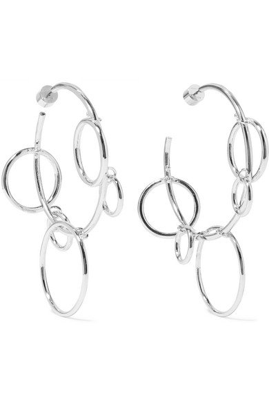 Quad Hoops silver-plated earrings