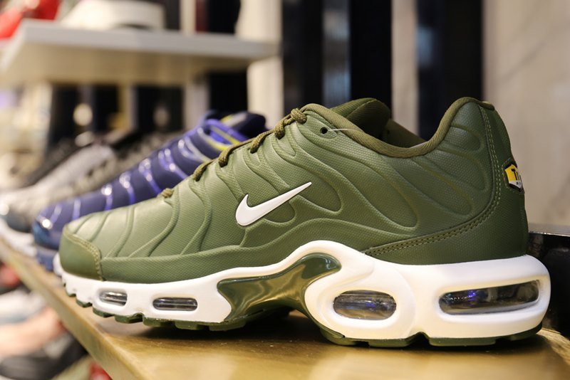 Nike Air Max shoes on display in store