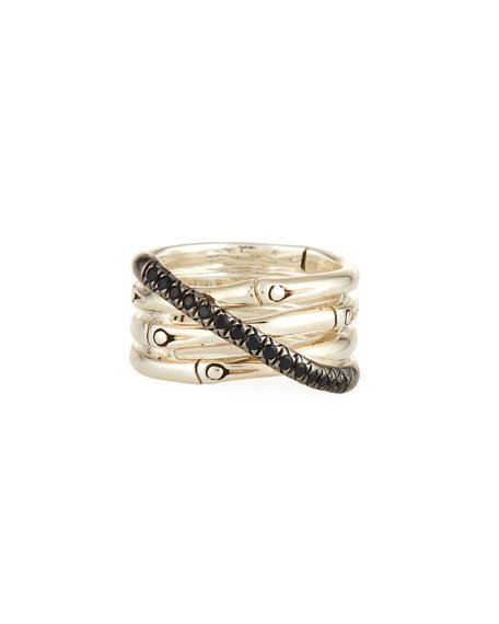 Bamboo Silver Band Ring