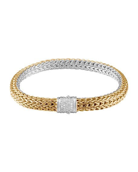 Classic Chain Gold & Silver Medium Reversible Bracelet