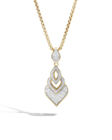 18k Legends Naga Diamond Pendant Necklace