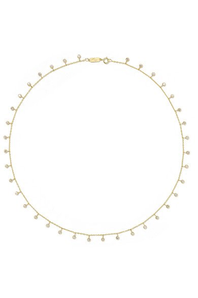 By-the-Inch 18-karat gold diamond necklace