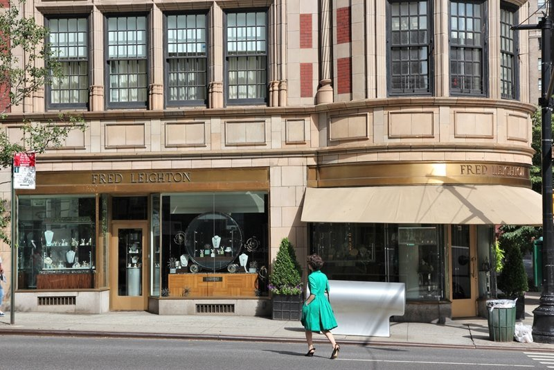 Fred Leighton jewelry boutique in Madison Avenue, New York.