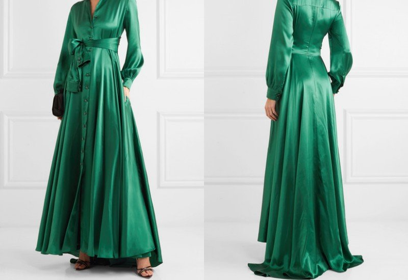Alexis Mabille Bow-detailed embellished duchesse-satin gown