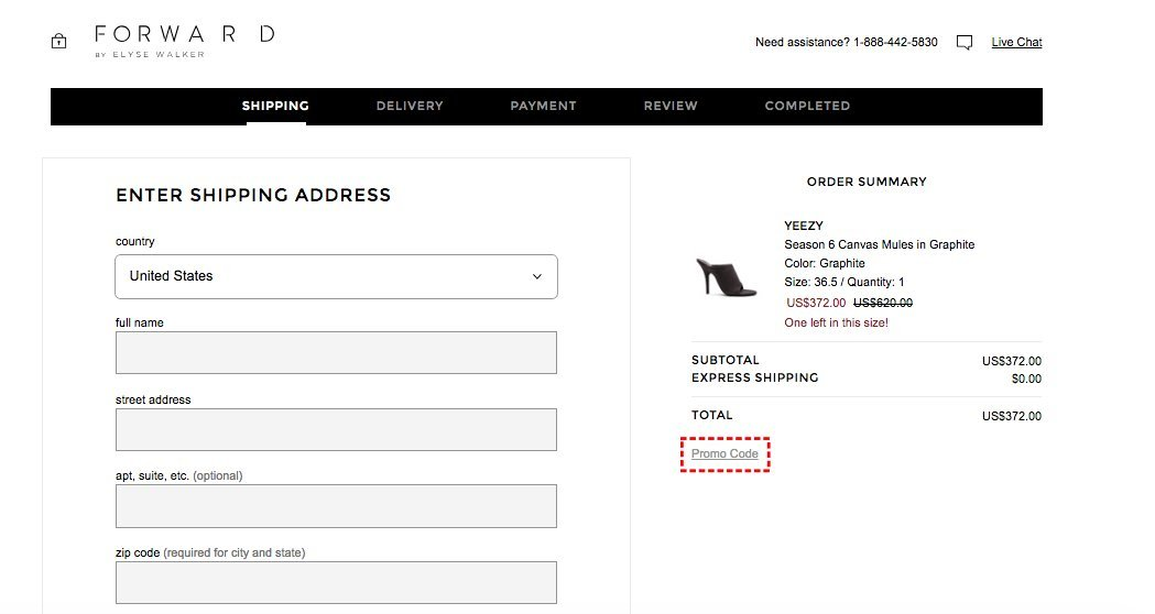 How to add promo codes on FWRD
