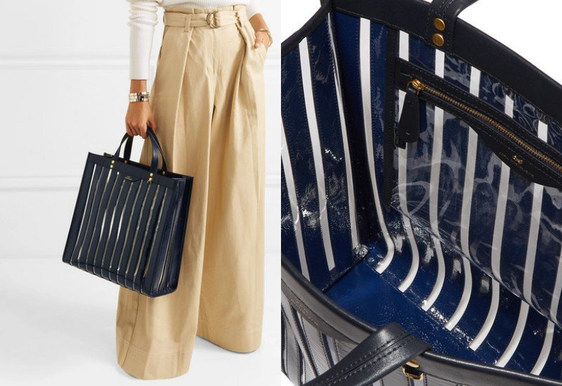 Anya Hindmarch Multi Stripes patent-leather and vinyl tote