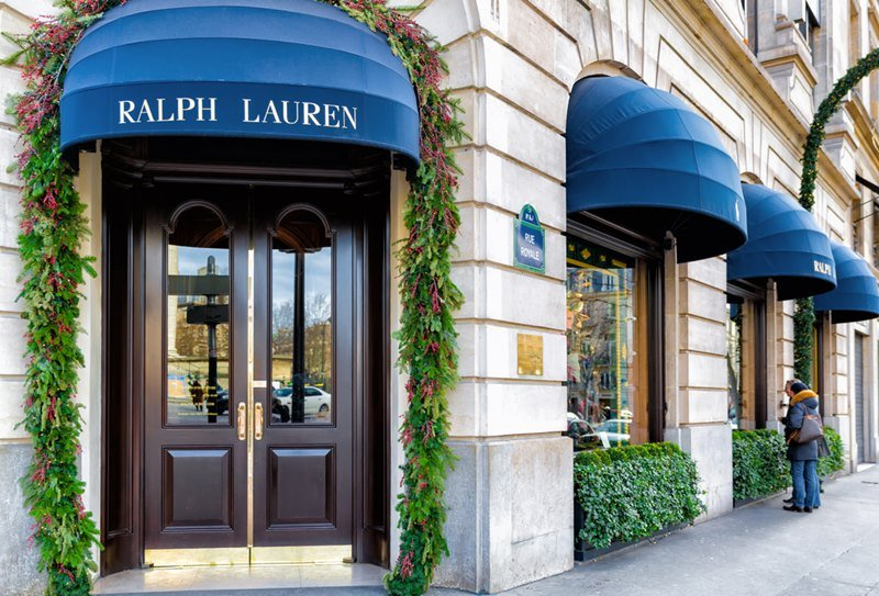 Ralph Lauren's first store in Paris opened 1986 in the posh shopping district near the Place de la Madeleine