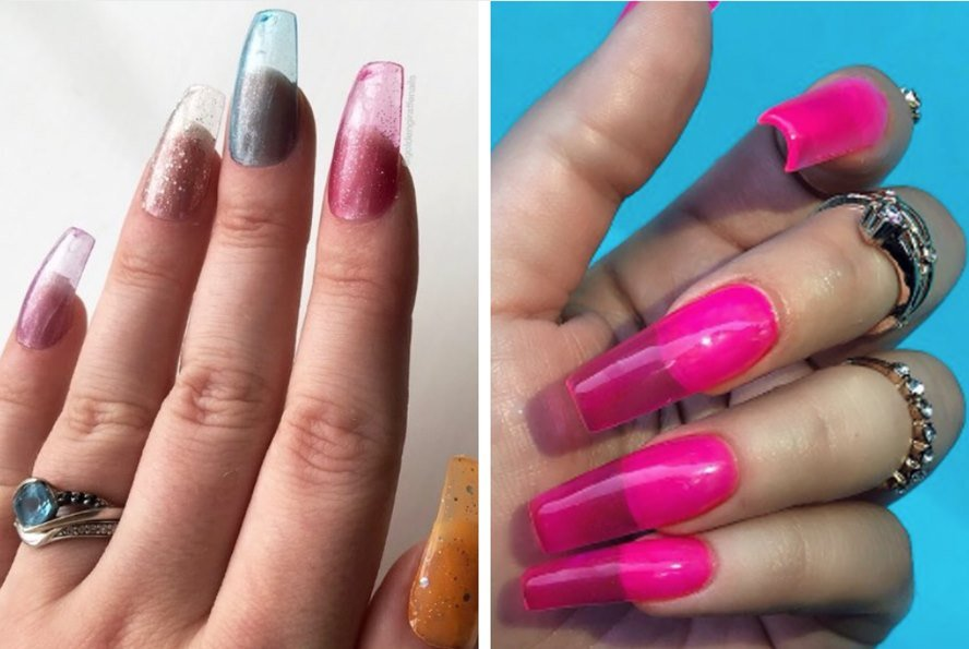 The New Jelly Nails Trend Is Another Tribute to the 90s