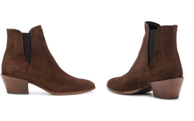 Tod's low heel ankle boots