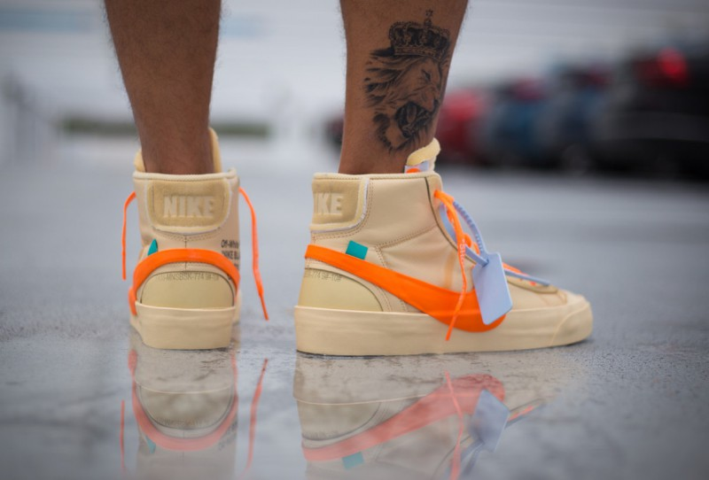 Off-White x Nike Blazer Mid All Hallows Eve Sneakers Review 5