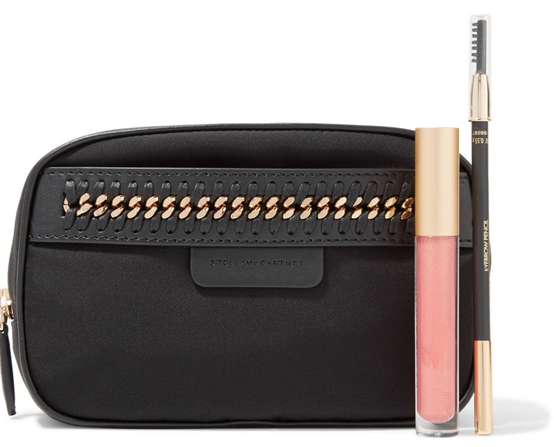 STELLA MCCARTNEY The Falabella chain and faux leather-trimmed shell cosmetics case