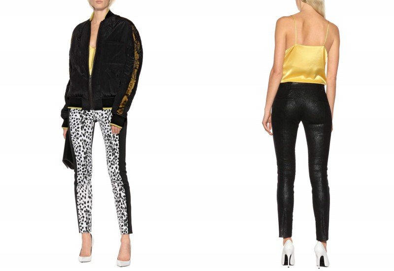 Haider Ackermann Suede and wool pants