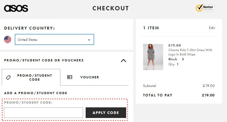 How to add promo codes on ASOS