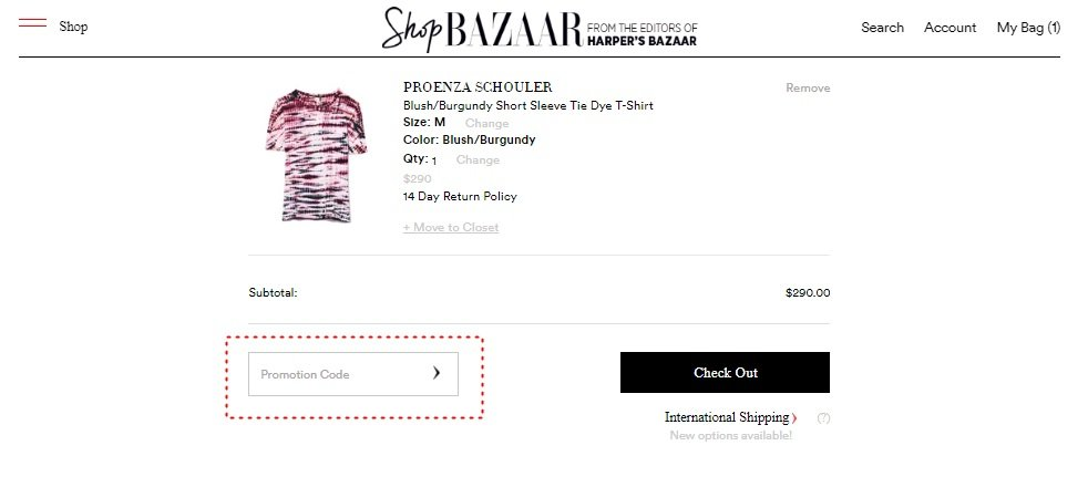 How to add promo codes on Shop Bazaar