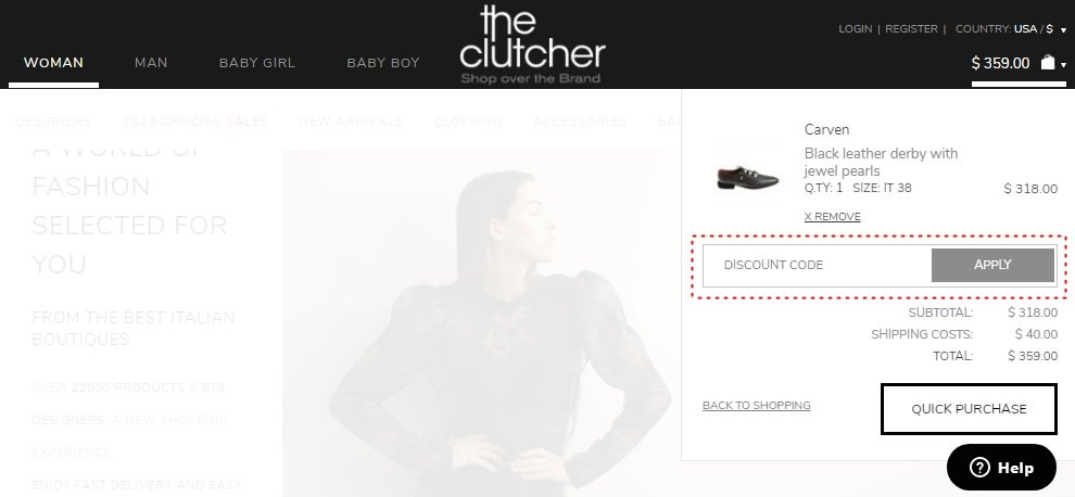 How to add promo codes on The Clutcher
