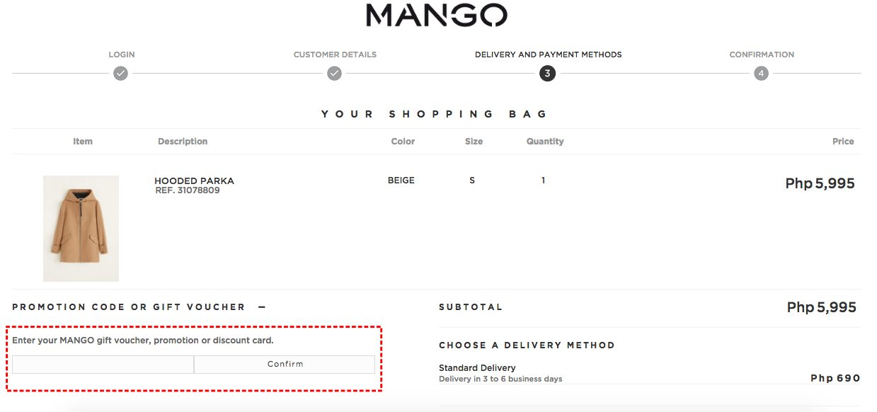 How to add promo codes on Mango