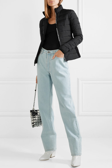 PACO-RABANNE-Stretch-knit-paneled-quilted-shell-down-jacket