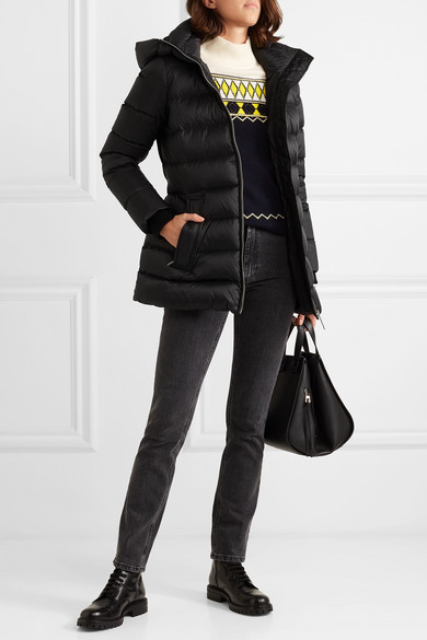 BURBERRY-Hooded-belted-quilted-shell-down-jacket