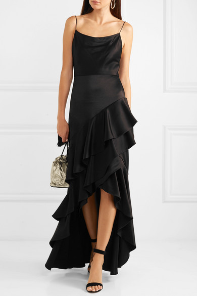 ALICE-OLIVIA-Lauralei-ruffled-satin-gown