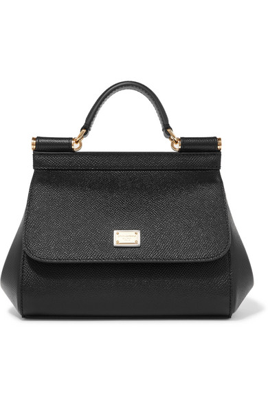 DOLCE-GABBANA-Sicily-micro-textured-leather-tote