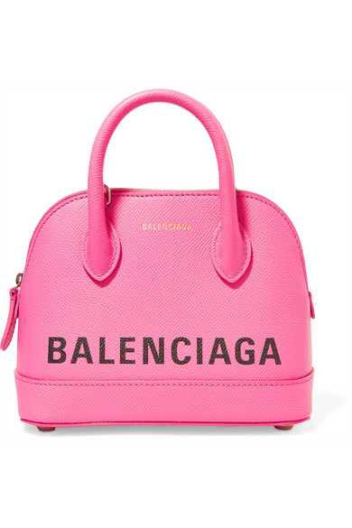 BALENCIAGA-Ville-XXS-AJ-printed-textured-leather-tote