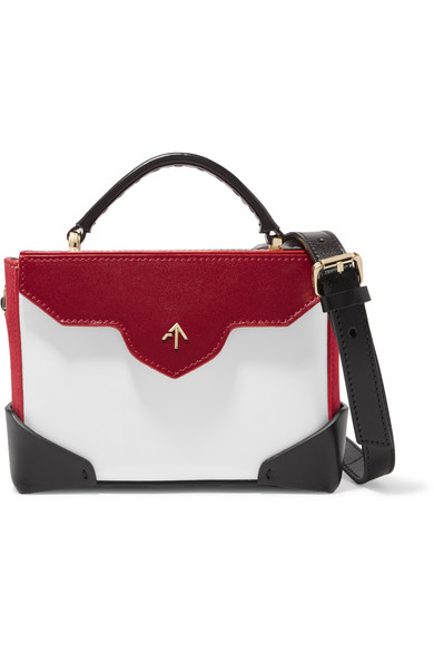 MANU-ATELIER-Bold-micro-color-block-leather-and-suede-shoulder-bag