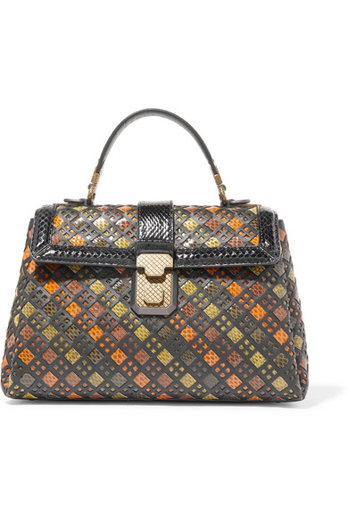 BOTTEGA-VENETA-Piazza-woven-watersnake-and-leather-tote