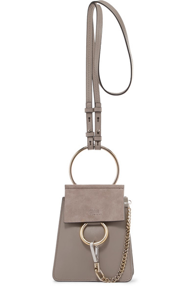 CHLOÉ-Faye-Bracelet-leather-and-suede-shoulder-bag