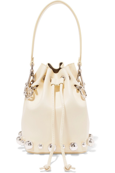 FENDI-Mon-Trésor-small-embellished-leather-bucket-bag