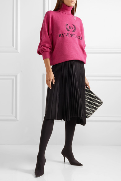 BALENCIAGA-Embroidered-wool-and-cashmere-blend-turtleneck-sweater