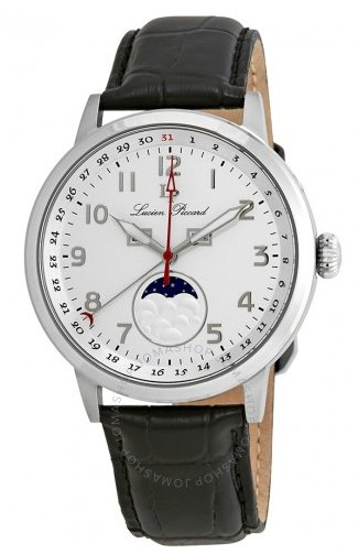 LUCIEN-PICCARD-Silver-Dial-Moonphase-Watch