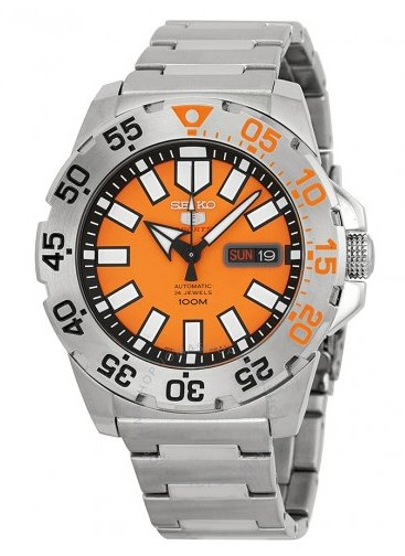 Seiko-Baby-Monster-SRP483-Orange-Dial-Automatic-Watch