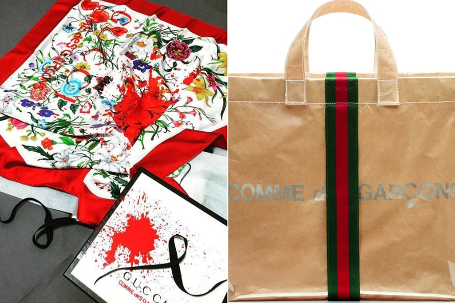 9df194fdc68044 An Unexpected Pairing: Gucci and Comme des Garçons Team Up For Exclusive  Tote