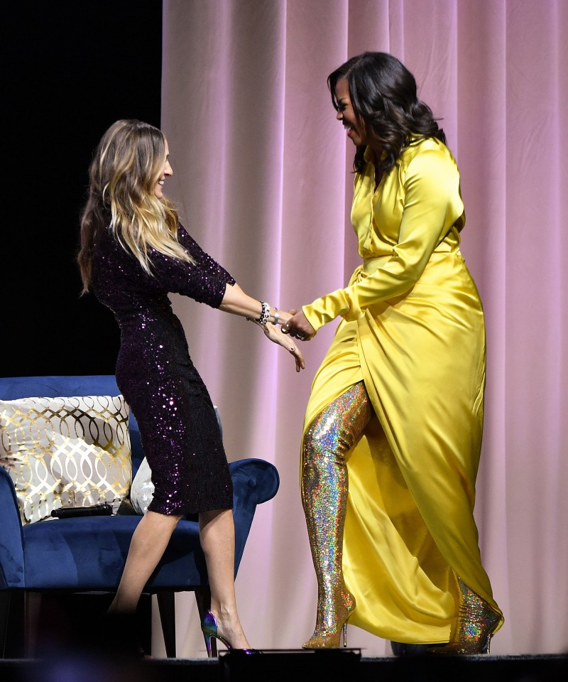 Here's-The-Sparkly-Balenciaga-Boots-Michelle-Obama-Wore-That-Had-Us-Talking-3