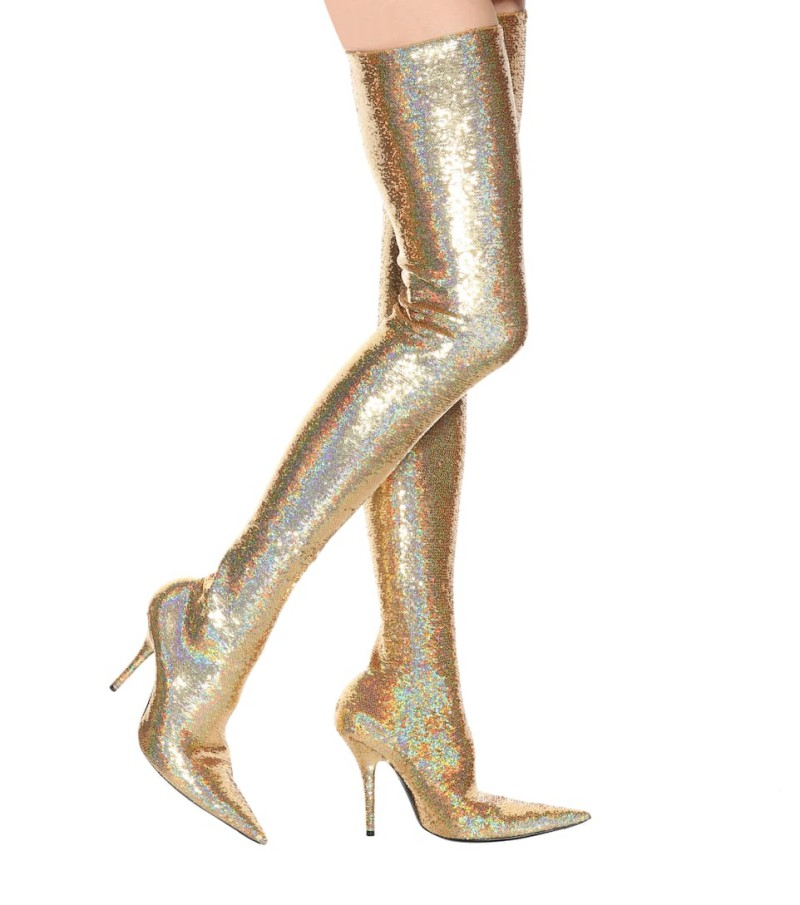 Here's-The-Sparkly-Balenciaga-Boots-Michelle-Obama-Wore-That-Had-Us-Talking-6